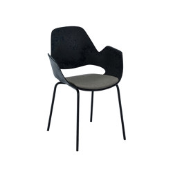 FALK | Dining armchair - Metal legs, Warm Clay seat | Sillas | HOUE