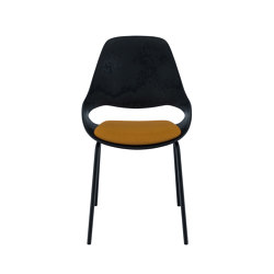 FALK | Dining chair - Metal legs, Amber seat | Sillas | HOUE