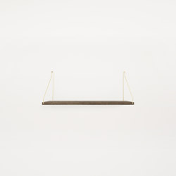 Shelf Dark Oiled | 60w-27d Brass Brackets | Shelving | Frama