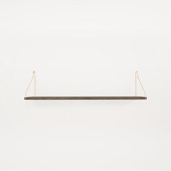 Shelf Dark Oiled | 80w-20d Brass Brackets | Shelving | Frama