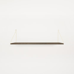 Shelf Dark Oiled | 80w-27d Brass Brackets | Shelving | Frama