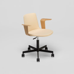 Lottus Office chair - with wooden arms | Sedie ufficio | ENEA