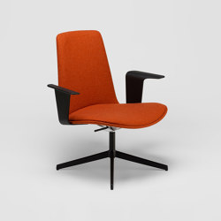 Lottus Lounge High - with wooden arms | Poltrone | ENEA