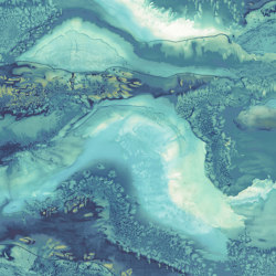 Obsidian Azurite – PANEL A | Wall coverings / wallpapers | Anthology