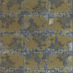 Oxidise Sapphire/Brass | Wall coverings / wallpapers | Anthology
