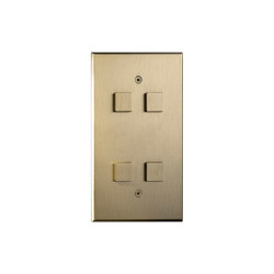 Cullinan - Brushed brass - Large square button   Push-button switches   Atelier Luxus