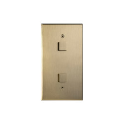 Cullinan - Brushed brass - Large square button | Push-button switches | Atelier Luxus