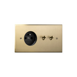 Cullinan - Brushed brass - Socket +Water drop lever | Kippschalter | Atelier Luxus