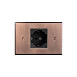 Cullinan - Brushed copper - Socket | Schuko sockets | Atelier Luxus