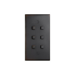 Cullinan - Medium bronze - Square button | interuttori pulsante | Atelier Luxus