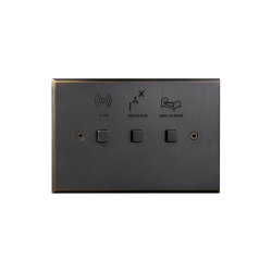 Cullinan- Medium bronze - Square button | Push-button switches | Atelier Luxus