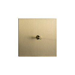 Facet - Brushed brass - Cone lever   Toggle switches   Atelier Luxus