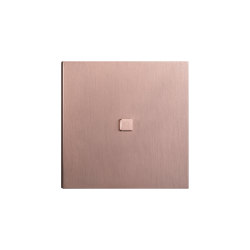 Facet - Brushed copper - Square push button | Push-button switches | Atelier Luxus