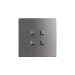 Facet - Brushed nickel - Square push-button | Push-button switches | Atelier Luxus