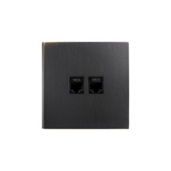 Facet - Medium Bronze - 2 RJ | Ethernet ports | Atelier Luxus