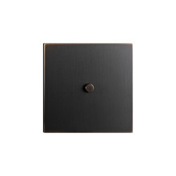 Facet - Medium bronze - Round push button | Interruttori leva | Atelier Luxus
