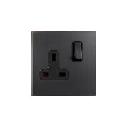Facet - Medium bronze - UK socket | Toggle switches | Atelier Luxus