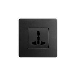 Grace - Matte bronze - Multi-standard socket | Prese EURO-USA | Atelier Luxus