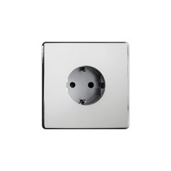 Grace - Mirror chrome - Socket | Schuko sockets | Atelier Luxus