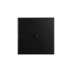 Hope - Black - Square button | Push-button switches | Atelier Luxus