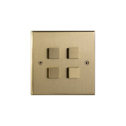 Hope - Brushed brass - Large square button | Push-button switches | Atelier Luxus