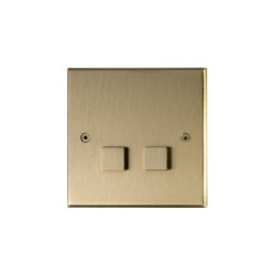 Hope - Brushed brass - Large square button | interuttori pulsante | Atelier Luxus