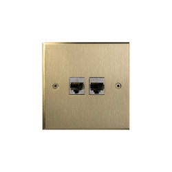Hope - Brushed brass - 2 RJ | Ethernet ports | Atelier Luxus
