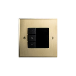 Hope - Brushed brass -Thermostat | Heating / Air-conditioning controls | Atelier Luxus