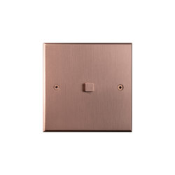 Hope - Brushed copper - Square push-button | Push-button switches | Atelier Luxus