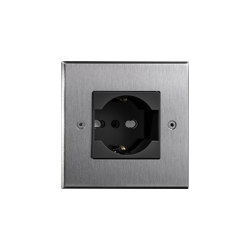 Hope - Brushed nickel - Socket | Schuko sockets | Atelier Luxus