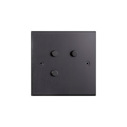 Hope - Mat bronze - Round push-button | Push-button switches | Atelier Luxus