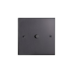 Hope - Mat bronze - Square push-button | Push-button switches | Atelier Luxus