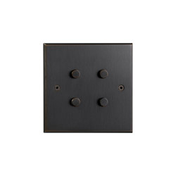 Hope - Medium bronze - Round push button | Push-button switches | Atelier Luxus