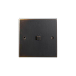 Hope - Medium bronze - Square button | Push-button switches | Atelier Luxus