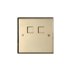 Hope - Mirror brass - 2 large square button | Push-button switches | Atelier Luxus