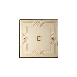 Hope - Mirror brass - Square button | Push-button switches | Atelier Luxus