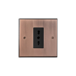 Hope - Old copper - Euroitalian socket | EURO sockets | Atelier Luxus