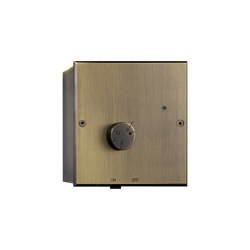 Hope - Old gold - Bespoke thermostat housing | Heating / Air-conditioning controls | Atelier Luxus