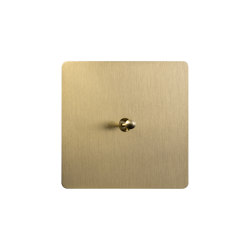 Noor - Brushed brass - Water drop lever   Toggle switches   Atelier Luxus