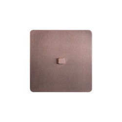 Noor - Brushed copper - Square push button | Toggle switches | Atelier Luxus