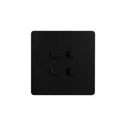 Noor - Mat black - square push-button   Push-button switches   Atelier Luxus