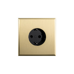 Regent - Brushed brass - Socket | Schuko-Stecker | Atelier Luxus