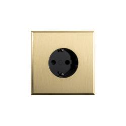 Regent - Brushed brass - Socket | Enchufes Schuko | Atelier Luxus