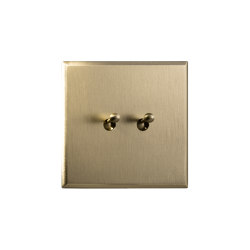 Regent - Brushed brass - water drop lever | Toggle switches | Atelier Luxus