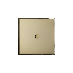 Regent - Mirror brass - Round push button | Push-button switches | Atelier Luxus
