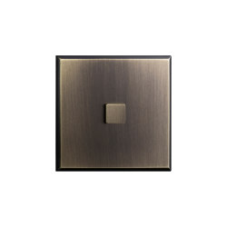 Regent - Old gold - Large square push button | Push-button switches | Atelier Luxus