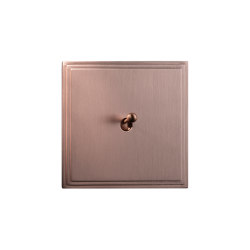 Tiara - Brushed copper - Water drop lever | Interruttori leva | Atelier Luxus