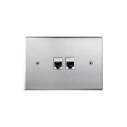 Cullinan - Brushed nickel - 2 RJ | Prese ethernet | Atelier Luxus