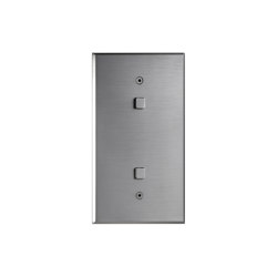 Cullinan - Brushed nickel - squarebutton | Toggle switches | Atelier Luxus