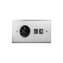 Cullinan - Brushed nickel - socket - connectors | Schuko sockets | Atelier Luxus